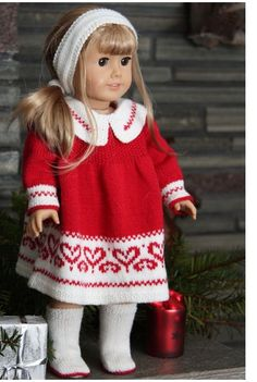 knitting pattern for American Girl doll