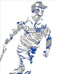 7f2dc25ee4b Cody Bellinger Los Angeles Dodgers Pixel Art 1 Art Print