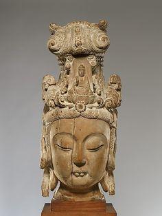 Head of Guanyin  Ming dynasty (1368-1644)  (Via The Metropolitan Museum of Art - Head of Guanyin )