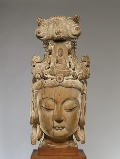 head of Guanyin, bodhisattva of compassion. Ming dynasty (1368-1644)