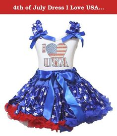 4th of July Dress I Love USA Shirt Stars Blue Skirt Girl Outfit 1-8y (5-6 Years). product includes: a skirt, a shirt(not include other accessory) size chart - shirt size: size XS(1-2Year), Chest(Circumference): 16-20 inches, Top Length: 14.5 inches size S(3-4Year), Chest(Circumference): 17-21 inches, Top Length: 15.5 inches size M(4-5Year), Chest(Circumference): 18-22 inches, Top Length: 16.5 inches size L(5-6Year), Chest(Circumference): 19-23 inches, Top Length: 17.5 inches size…