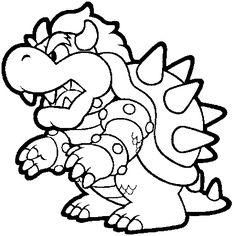 Printable Super Mario Coloring Pages
