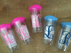 Personalized and Monogrammed Tumblers -a  fun Silhouette Vinyl Project