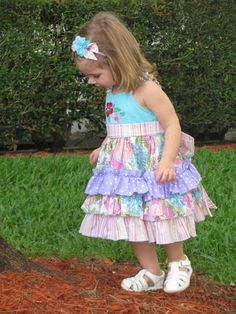 Instant Download Long Ruffle Dress PDF by PixieDustPatterns Create Kids Couture, Ruffle Dress, Sewing Patterns, Pdf, Summer Dresses, Trending Outfits, Etsy, Fashion, Moda