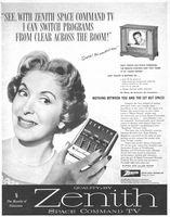 Zenith Space Command TV Remote Control 1957 Ad Picture