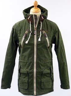 Rushen Lightweight Parka by FLY53. $134.76. #retro #mod