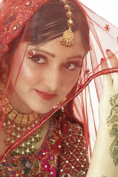 Indian girl in traditional bridal wear