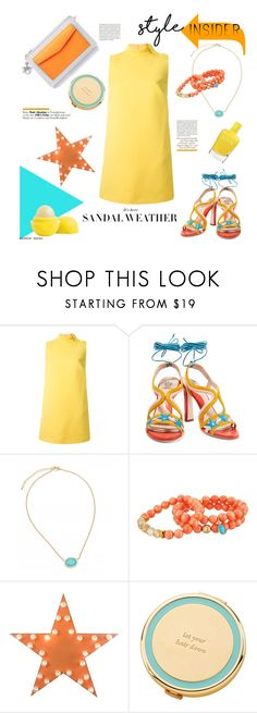 """""""Lace Up Sandals"""" by heather-reaves ❤ liked on Polyvore featuring Christian Dior, RED Valentino, Paula Cademartori, Dee Berkley, Dot & Bo, Kate Spade, Pippa, contestentry, laceupsandals and PVStyleInsiderContest"""