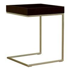 Baxton Studio C-Shaped End Table, Black