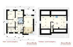 Projekt domu Talia, wizualizacja 5 Floor Plans, Modern, Trendy Tree, Floor Plan Drawing, House Floor Plans