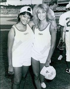 CA65 1984 Heather Locklear TJ Hooker Dodger Stadium All Star Game Orig Photo