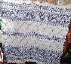 Swedish Weaving or Huck Embroidery