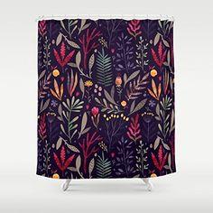 Gerenic Botanical Pattern Shower Curtain 66-72inch Generic