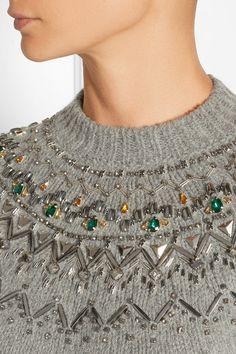 Gucci | Embellished alpaca-blend sweater | NET-A-PORTER.COM high res