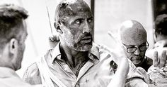 A bloodied and battered Dwayne Johnson shares a new video and photo from the third week of production on Universal's Skyscraper, arriving next. Dwayne Johnson, The Rock, Skyscraper, Third, Tv Shows, Photo And Video, Inspired, Film, Summer