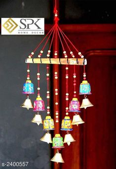 Wind Chimes Stylish Hanging Wind Chime Material: Wooden Size (L X W): 45 cm X 25 cm Description: It Has 1 Piece of Hanging Wind Chimes \Work: Hand painted Country of Origin: India Sizes Available: Free Size *Proof of Safe Delivery! Click to know on Safety Standards of Delivery Partners- https://ltl.sh/y_nZrAV3  Catalog Rating: ★4.1 (1632)  Catalog Name: Stylish Home Hanging Wind Chimes Vol 1 CatalogID_321271 C127-SC1619 Code: 781-2400557-