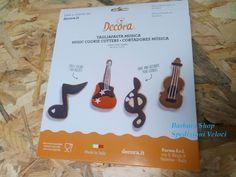 4 Tagliapasta Biscotti Decora musica cookie cutters SPEDIZIONI VELOCI