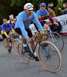 Cyclists take part in L'Eroica