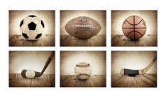 This listing is for a set of SIX photo prints on lustre paper of some of my Vintage Sports prints. 1. Vintage Soccer Ball 2. Vintage Football 3. Vintage Basketball 4. Vintage Golf Club and Ball 5. Vintage Baseball 6. Vintage Hockey Stick and Puck Substitutions are allowed with this set, please make Vintage Sports Nursery, Vintage Sports Decor, Vintage Golf Clubs, Vintage Football, Vintage Art, Nursery Decor Boy, Boys Room Decor, Kid Decor, Nursery Ideas