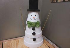 Make a Terra Cotta Snowman   Garden Club