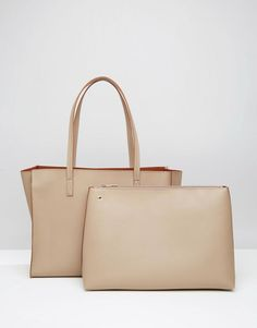 ASOS | ASOS Structured Shopper Bag With Removable Clutch at ASOS