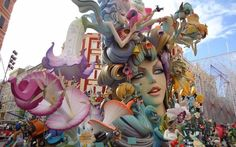 """Festival Las Fallas - Valencia, Spain March -- 5 Day celebration concluding with the burning of these giant, hand-crafted """"fallas"""" Gorgeous! St Josephs Day, Valencia City, Local Museums, Spanish Culture, Spain Travel, Wonderful Places, Beautiful Places, Fireworks, Yorkie"""