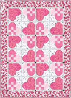 Hug Me Quilt Pattern by Clothworks Free Downloadable Quilt Patterns. Please enjoy the following free quilt patterns available to download, courtesy of the fabric manufacturers. Want a free pattern every week?  Sign-up  for our newsletter!  A new pattern is provided in our weekly newsletter.