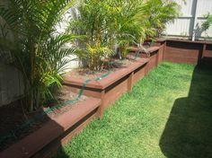 iLandscape :: Products :: Sleeper Planter Boxes - Proline Landscape Gardening Sunshine Coast
