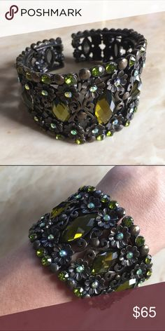 Floral Bracelet Cuff Brand new. Never worn. All the stones are in perfect condition. Fast shipping. No trades. Thank you for supporting and shopping my closet! Xoxo Jewelry Bracelets