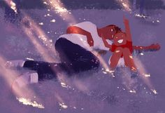 Daddy, daddy, look at the pretty lights! #pascalcampionart