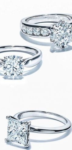 Trendy wedding rings princess cut tiffany diamonds 28+ ideas Tiffany Wedding Rings, Tiffany Engagement, Cool Wedding Rings, Wedding Ring Designs, Beautiful Engagement Rings, Beautiful Rings, Diamond Engagement Rings, Solitaire Rings, Solitaire Engagement