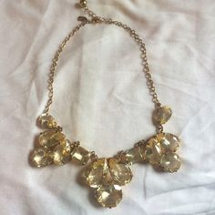 Kate Spade Statement Necklace Beautiful Kate Spade statement necklace! Just bought it and haven't worn it much. Gold hardware with yellow/clear tone stones. It's in excellent condition! Would love for this beauty to find a new home. kate spade Jewelry Necklaces