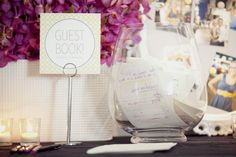 #guest-book  Coordination, Florals, and Stationery: Mi Mi Design - mimiweddings.com Videography: IQvideography - iqvideography.com Photography: Olive Juice Studios - olivejuicestudios.com  Read More: http://stylemepretty.com/2011/08/25/minneapolis-wedding-by-iqvideography-olive-juice-studios-mi-mi-design/