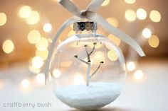 Christmas Crafts should be quick when it is such a busy time of year - and these 20 elegantly adorable ways to fill clear ornaments are both quick and stunning!