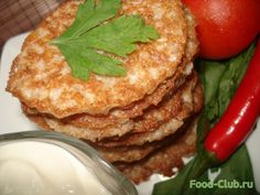 Pancakes of wheat flakes  the recipes can be found on the website #Pancakes #flakes