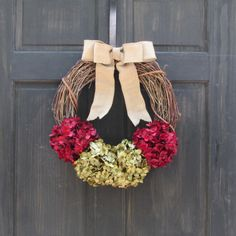 Grapevine Christmas Wreath for Front Door by NewEnglandHomeAccent
