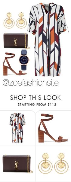 """Untitled #414"" by zoefashionsite on Polyvore featuring Vince, Yves Saint Laurent, Kenneth Jay Lane and Marc Jacobs"