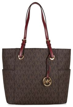 fe24fb3024f6 MICHAEL Michael Kors Jet Set Travel Chain Large Top Zip Multi Function Tote  >>> For more information, visit now : Michael kors Handbags