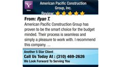American Pacific Construction Group has proven to be the smart choice for the budget...