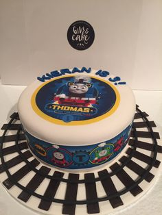 Thomas The Tank Engine Cake (Edible images)