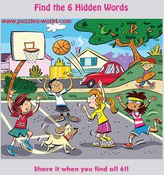 Find Six Hidden Words