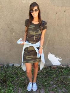 Z Supply The Connor Camo Dress In Green Camo