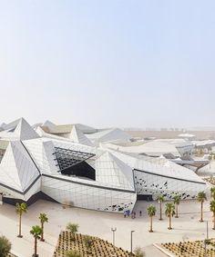 zaha hadid's KAPSARC opens to the public in riyadh, saudi arabia #contemporaryarchitecture