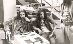 Scorpions. Klaus Meine & Uli John Roth at Villa Louvigny TV Studio. (Photos taken by Andy Bausch) 1976. https://www.facebook.com/klausmeineforever/