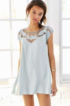 Kimchi Blue Cutwork Tropical Sun Dress - Urban Outfitters