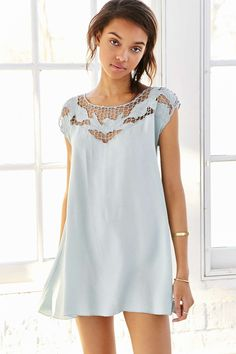 Kimchi Blue Cutwork Tropical Sun Dress - Urban Outfitters