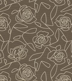 Home Decor Upholstery Fabric- Crypton Bed Of Roses-Gray: home decor fabric: fabric: Shop   Joann.com