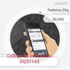 """Si querés ganar dinero usando aplicaciones en android, tienes que buscar la app WHAFF (buscala en el Store) si al instalarla pones el código de invitación """"DQ37143"""" te darán 0,30$   Ya he juntado más de 250us$"""