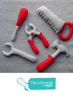 Felt Tool Set Toys, Including a Hammer, Pliers, Saw, Screwdriver and a Wrench from TuscanyCreative https://www.amazon.com/dp/B01E9EQ5WY/ref=hnd_sw_r_pi_dp_HnZGxbC6N9Z7X #handmadeatamazon