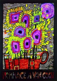 Hommage a van Gogh (2000) by Friedensreich Hundertwasser